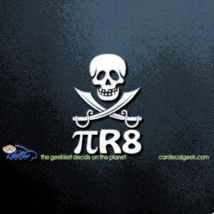 PiR8 Pirate Skull Swords Car Decal