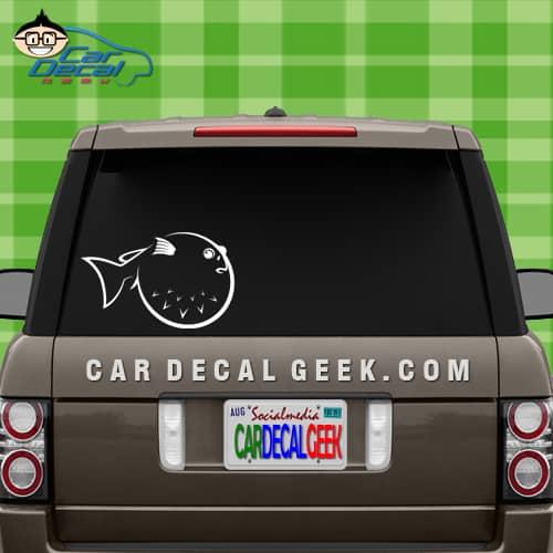 car window decal sticker puffer fish