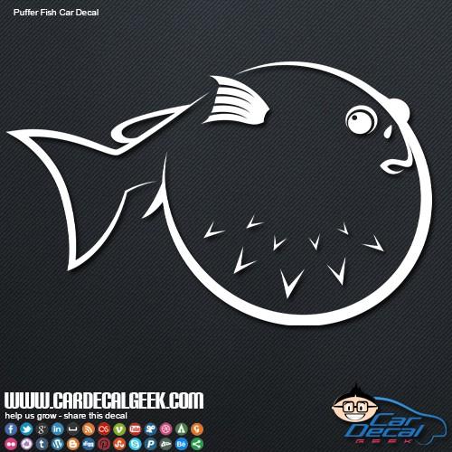 Car Decal Sticker Puffer Fish