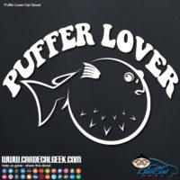 Car Decal Sticker Puffer Fish Lover