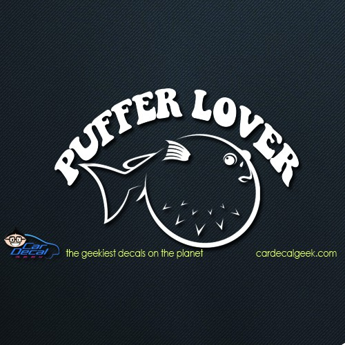 Car Decal Puffer Fish Lover