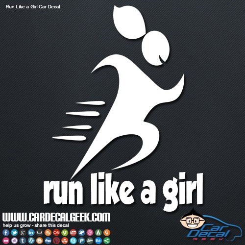 Run Like a Girl Vinyl Car Decal