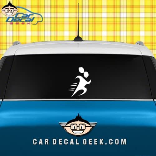 Running Girl Car Decal Sticker