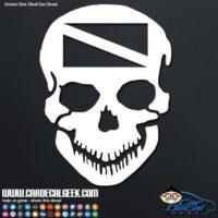Scuba skull car decal sticker