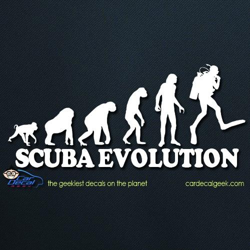 Scuba Evolution Car Decal Sticker