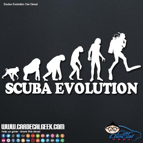 Scuba diver evolution car decal sticker