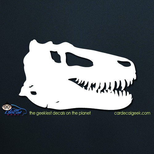 T rex dinosaur car window decal