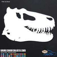 T-Rex Dinosaur Skull Car Window Decal