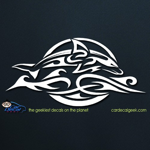 Tribal Dolphin Car Window Decal Sticker Graphic