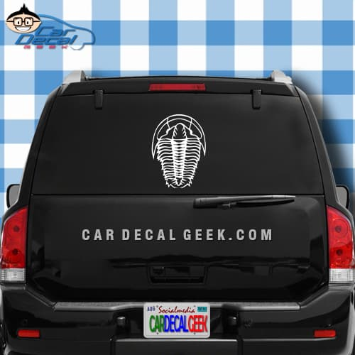 Trilobite Car Window Graphic Sticker