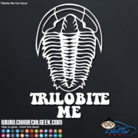 Trilobite Me Car Window Decal Sticker