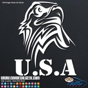 USA Eagle Head Car Window Decal Sticker