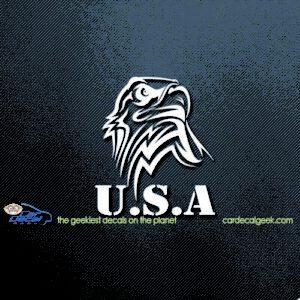 USA Eagle Head Car Window Decal
