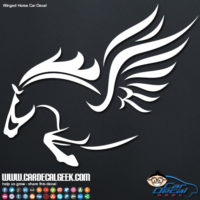 Winged Horse Pegasus Car Window Decal