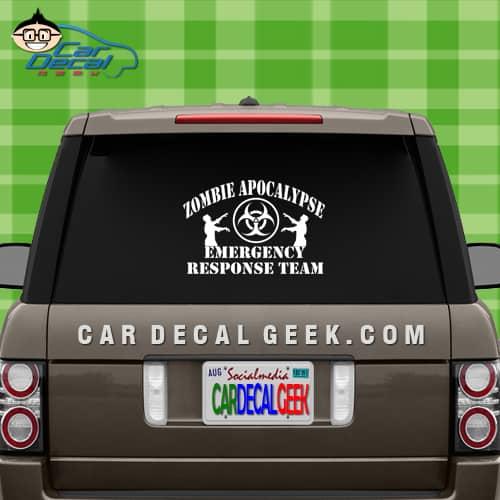 zombie apocalypse car window decal