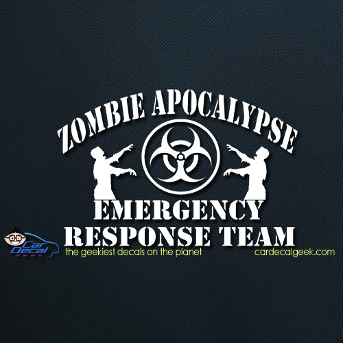 zombie apocalypse emergency response team car decal
