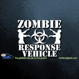 Zombie Response Vehicle Car Window Decal Sticker