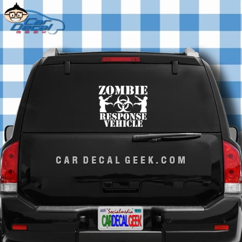 zombie response vehicle car sticker