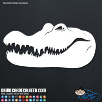 Crocodile Alligator Head Car Decal Sticker Graphic