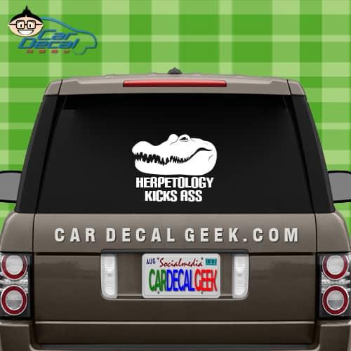 Crocodile Herpetology Kicks Ass Car Window Decal Sticker