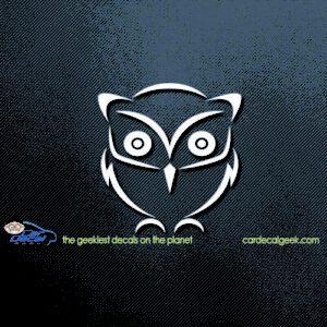 Cute Owl Car Decal Sticker