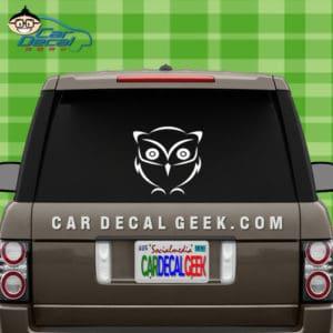 Cute Little Owl Car Window Decal Sticker