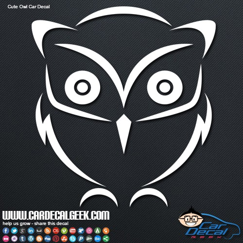Cute little owl car decal sticker