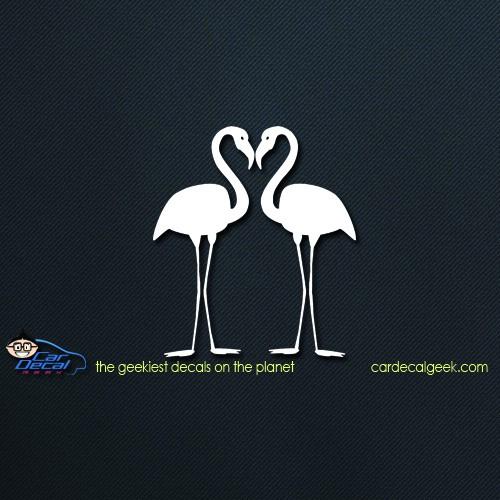 Flamingos Car Window Decal Sticker