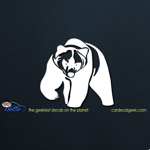 Grizzly Bear Car Decal Srticker