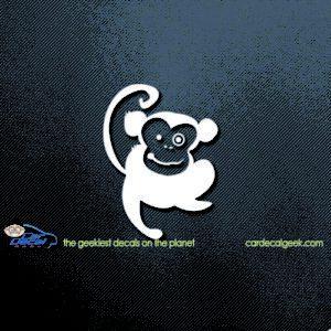 Cute Happy Monkey Car Window Decal Sticker