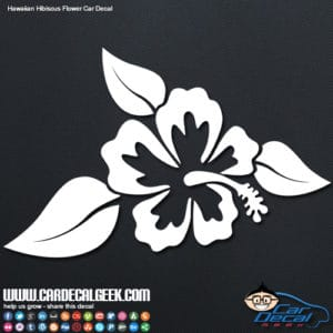 Hawaiian Hibiscus Flower Car Window Decal Sticker