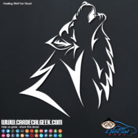 Tribal Howling Wolf Car Decal Sticker
