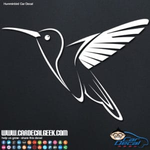 Hummingbird Car Window Decal Sticker Graphic