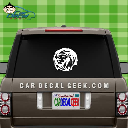 Lion Head Car Window Vinyl Decal Sticker