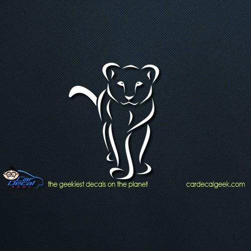 Female Lion Lioness Car Window Decal