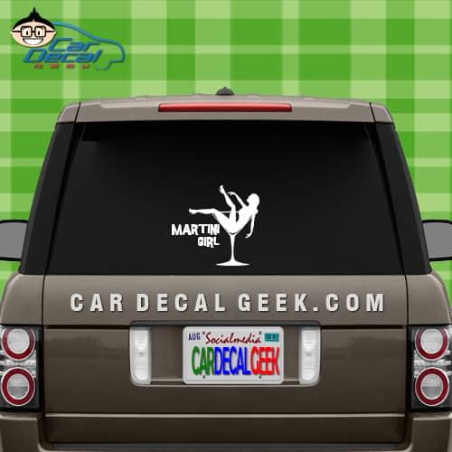 Martini Girl Car Window Car Decal Graphic Sticker - Unique car window decals