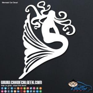 Mermaid Car Window Decal Sticker