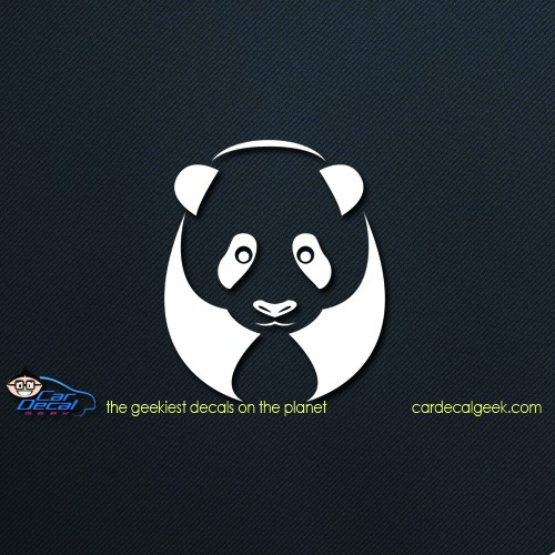 Panda Bear Car Window Decal Sticker