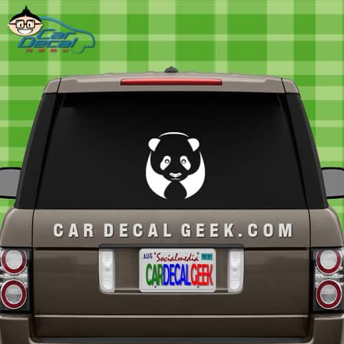 Panda Car Window Decal Sticker