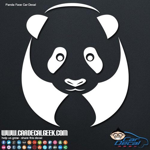 Panda Car Decal Sticker