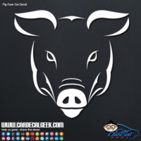 Pig Face Car Window Decal Sticker