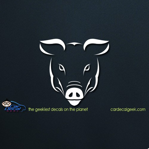 Pig Face Car Window Decal