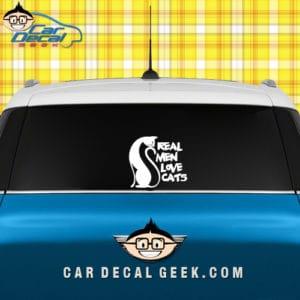 Real Men Love Cats Car Window Decal Sticker