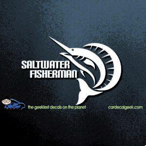Sailfish Saltwater Fisherman Car Window Decal Sticker