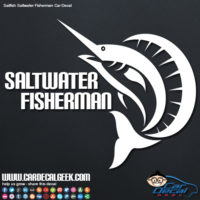 Sailfish Saltwater Fisherman Car Decal Graphic