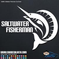 Sailfish Saltwater Fisherman Car Decal Graphic
