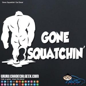 Sasquatch Bigfoot Car Window Decal Graphic