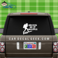 Scuba Divers Do It Deeper Car Window Decal Sticker