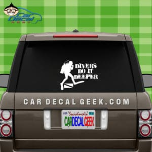 Scuba Divers Do It Deeper Car Window Decal Sticker
