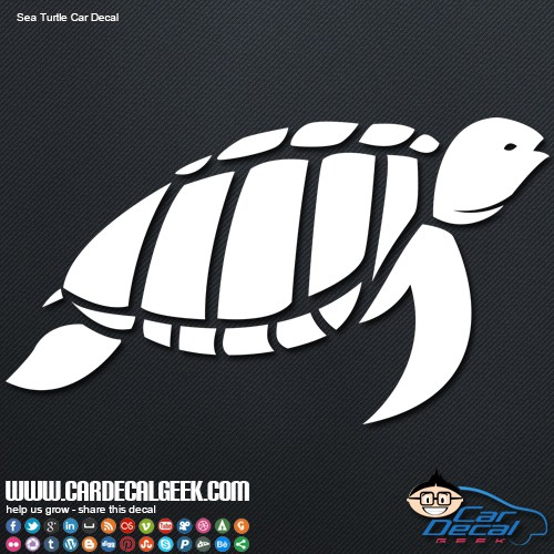 Sea Turtle Reptile Car Decal Sticker